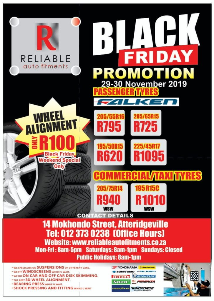 Specials | Reliable Auto & Tyre Fitments